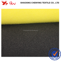 shaoxing specialized supplier woven tr brushed drapery fabrics / cheap TWO SIDE WITH BRUSHED FABRIC for winter coat