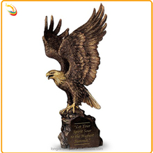 Classical Metal House Decoration Bronze Large Eagle Garden Statue For Sale