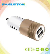 colorful Mobile Phone Use and Electric Type 2 Usb dual port Car Charger USB with cheap price