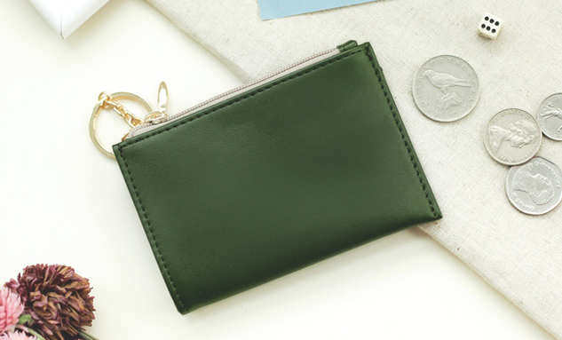 Key coin wallet card wallet card bag with key ring