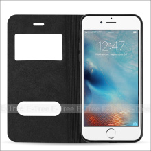 Premium Flip View Window PU Leather Back Phone Case Cover For Apple iphone6