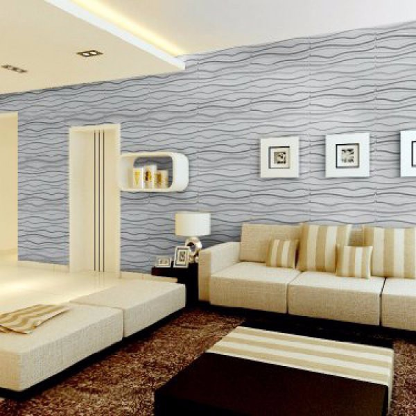 Artistic 3d tiles mdf wall panels wood paneling for walls interior design