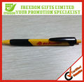 Yellow And Black Plastic Triangle Ball Pen