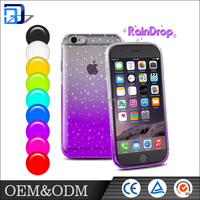Factory price 3d printing water drop design mobile phone back cover for iphone 6 6s 6s plus 5se case