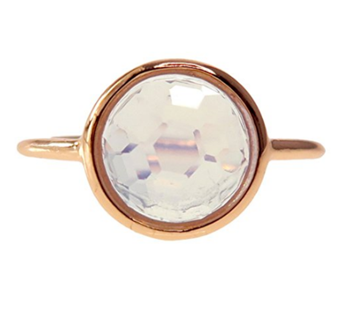 18k Rose Gold Clad Wholesale Gemstone Round Ring