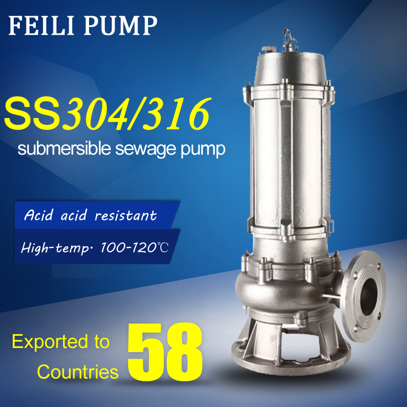 submersible grinder pumps power plant water pump waste water stainless steel centrifugal pump