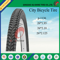 Promotion top quality natural rubber bicycle tire 20x2.35 bicycle tyre 26 1.95 for sale