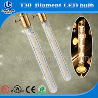 vintage edison tubular lamp T30 LED filament bulb 4W/6 watt/2watt base E27/e26/b22 uk us 230v 110v energy saving