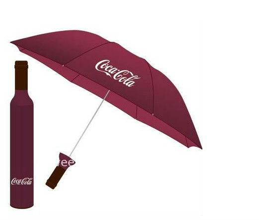 2012 new promotional coca-cola wine bottle umbrella