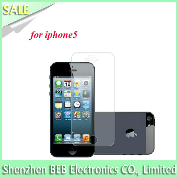 Top featured clear screen protector for iPhone5 from China's professional factory