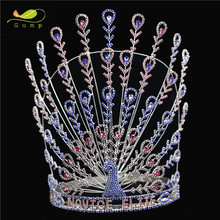 Pageant Rhinestone Tiara Peacock Style Crystal Crown
