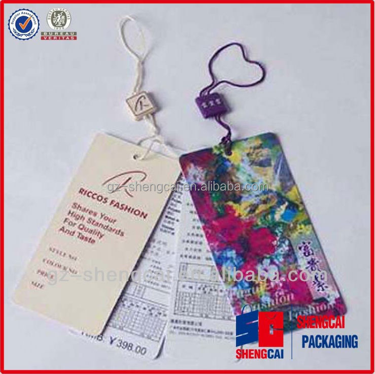 Customized paper hand tag and plastic hand tag printed different logos and in defferent design