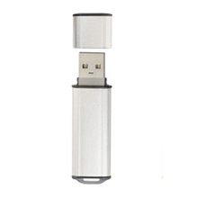 Chic Silver Body Customisation USB Flash Drive