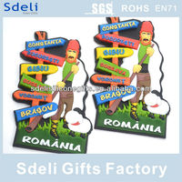 Romania Custom magnet sticker rubber magnet soft pvc 3D fridge magnet