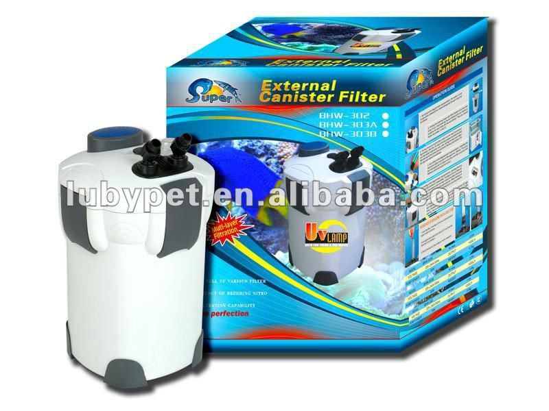 Super aquatic aquarium uv light external canister filter for Uv filter for fish tank