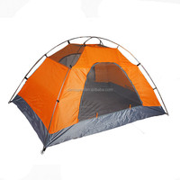 2 Person Double Layer Ripstop Polyester Family Camping Tent With Fiberglass Pole