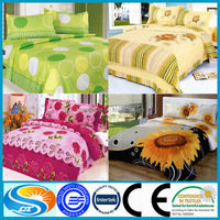 3D bed sheet cotton bedding fabric 2016 new products
