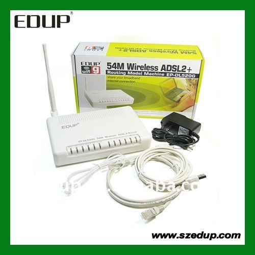 100% HIGH QUALITY EP-DL520G RJ-11 Port Wireless Modem Router+1 LAN WiFi ADSL 1 Ethernet Port+