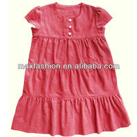 Flower cotton ruffle baby dress designs clothes for party with soft feeling by China supplier