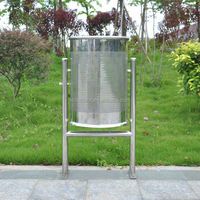 Outdoor stainless steel recycling bin
