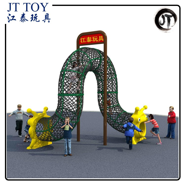 Factory Price play park kids outdoor playground equipment JT17-10002 rope climbing structure
