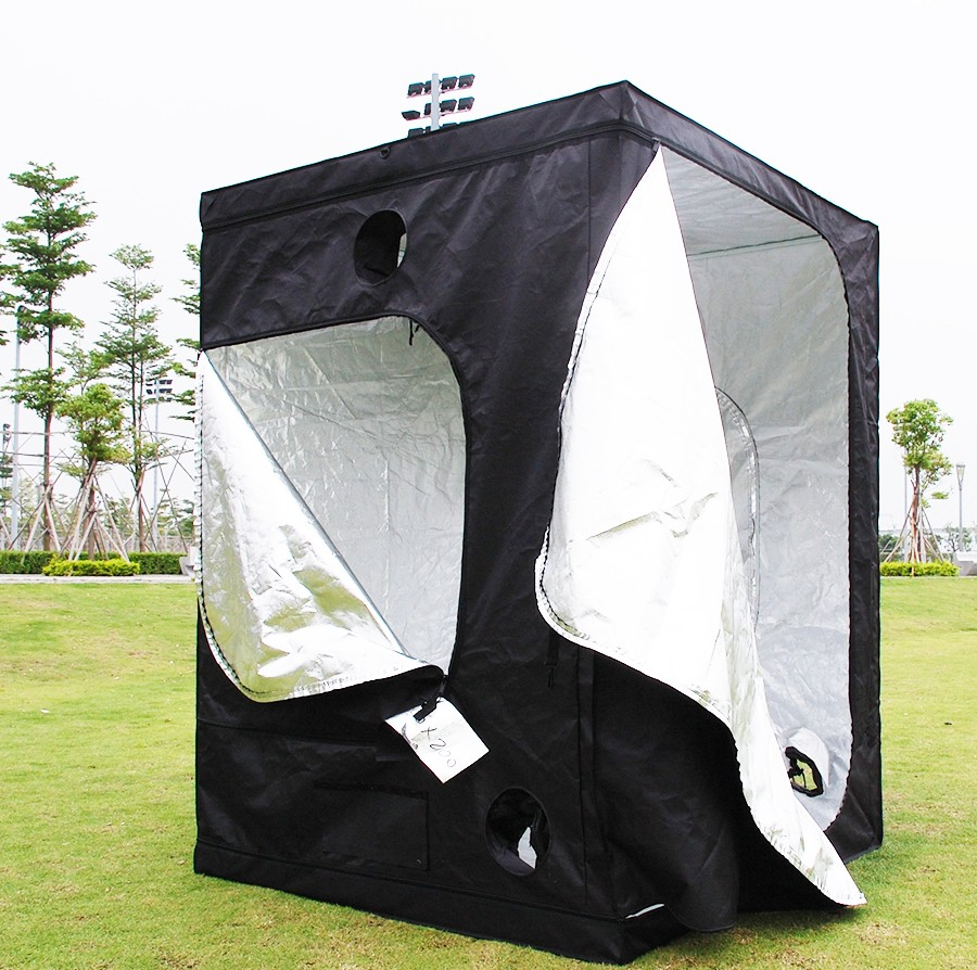 Factory Supply Indoor 5x5ft 4x8ft Hydroponics kit Highly Reflective Fabric 1680D 600D custom grow Tent