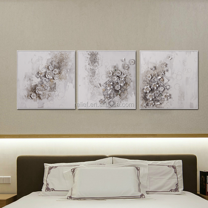 Relife high quality handmade 3d abstract flower oil painting decoratve wall painting ,just for those who enjoy life(Y667409)