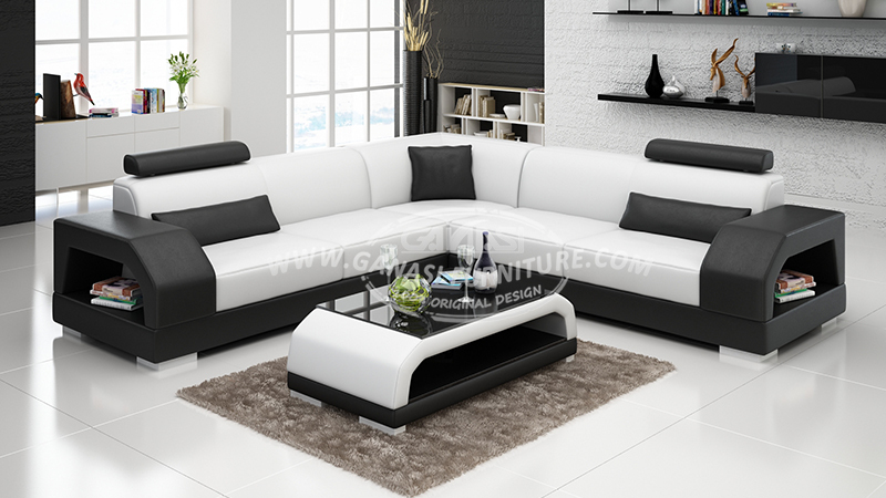 Ganasi lastest simple wooden sofa set design wooden sofa - Wooden corner sofa designs ...