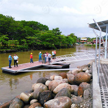Costa Rica installed expandable metal profile floating jetty and marina finger