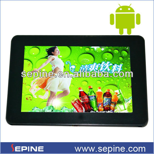 Best advertising banner system 7'' video display android advertising player