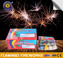 "Excellent quality Clay Color 1"" Smoke Balls cracker bomb fireworks"