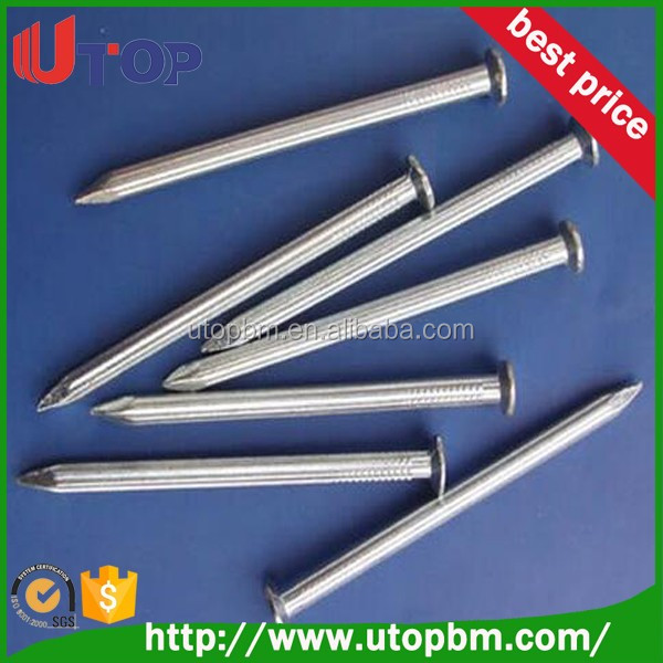 Hardened stainless steel concrete nails