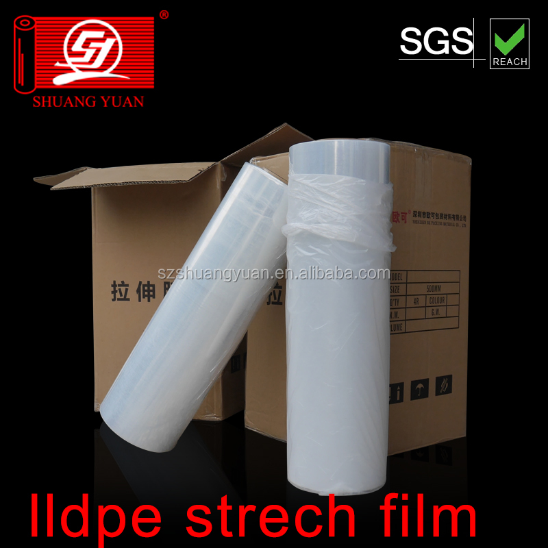 4cm-200cm HOT SALE LLDPE PALLET Stretch Film for hand and machine use