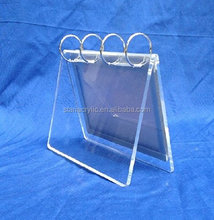 6 Inch Acrylic Desk Calendar Display Rack Stand Holder for Store