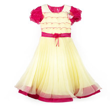 849 Watermelon Red Hot selling good quality girls frock baby girl ruffle dress design