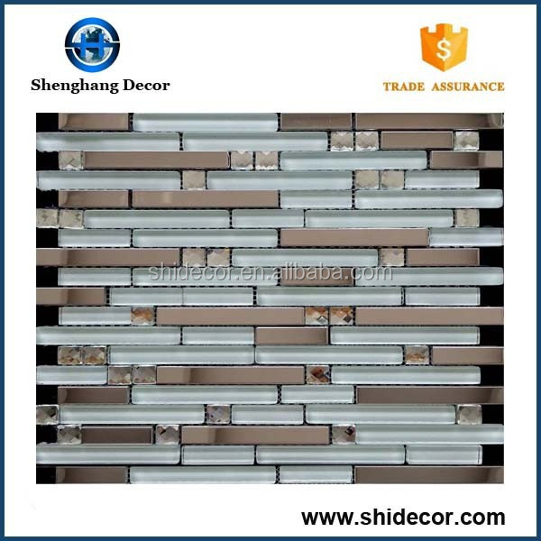 Hot sale bottom price peel and stick metal mosaic tiles