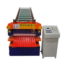 Best selling delta PLC and inverter long k q span 240 roofing roll forming machine