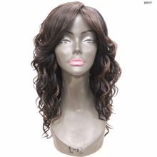 "Long Curly 20"" Dark High Quality Top Quality Movie Star Basic Light weighted Fast Wearing Full Wig"