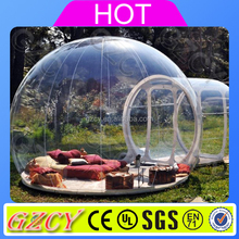Clear Bubble Camping Tent, Life Size Snow Globe Clear Inflatable Dome For Live Show