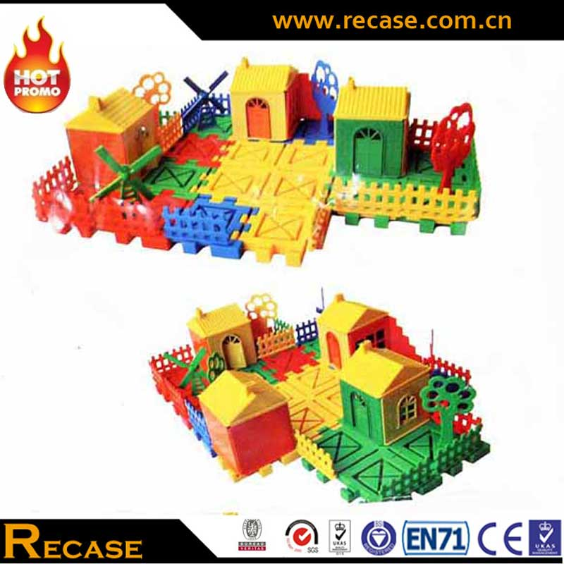 High Quality Plastic Model Children Puzzle DIY House Plastic Mould Building Block Bricks Child Toys Construct Educational Toys