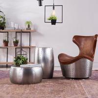 Luxury modern coffee table round brush aluminum coffee table round tea table for living room use