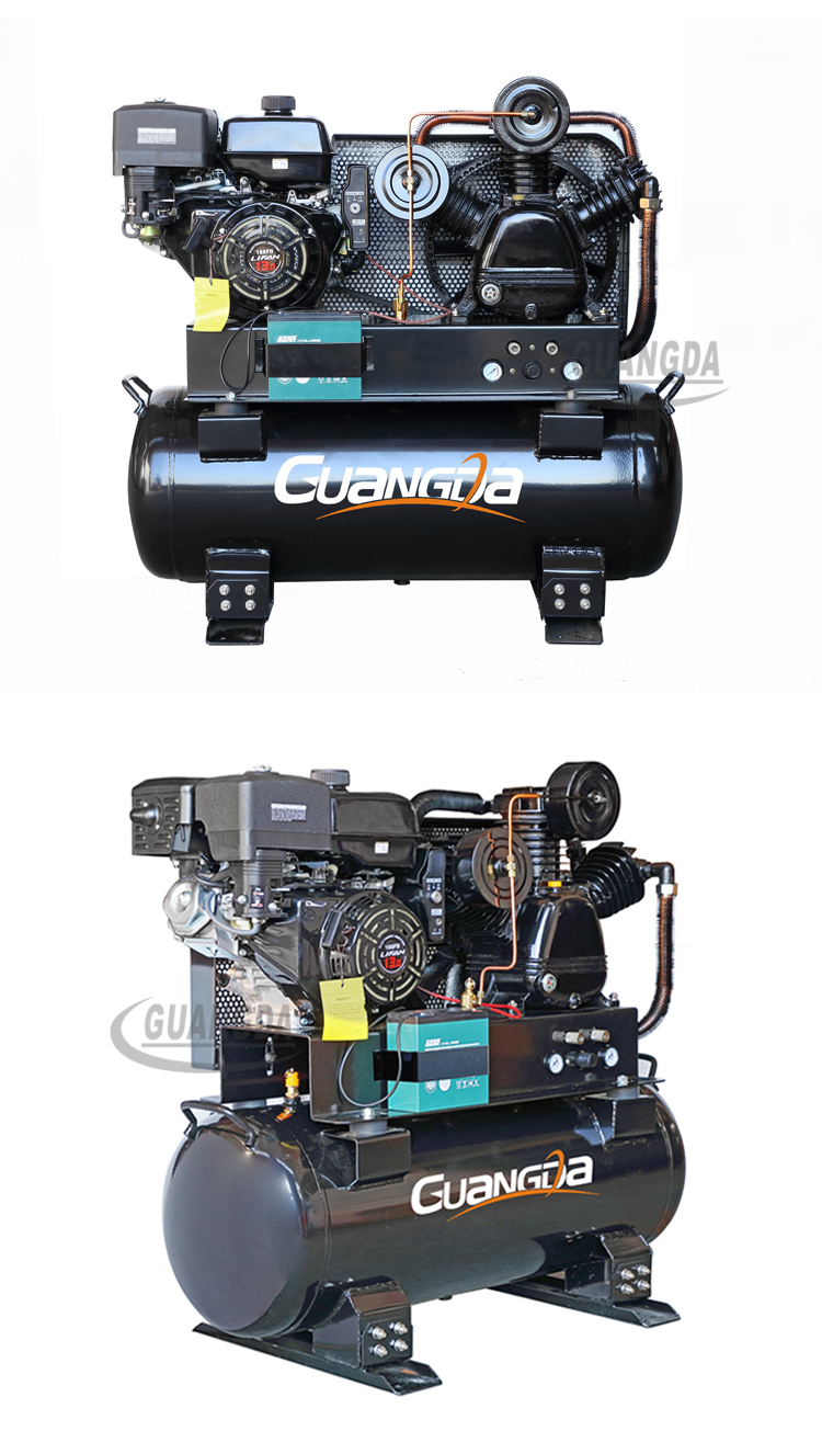 Best prices petrol industrial 13 hp gasoline engine air compressor