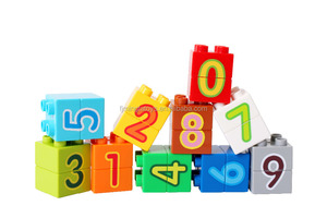 new style high density building blocks/number plastic building blocks toys