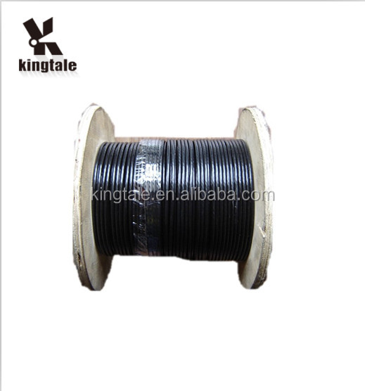 Kingtale New Product 2017 7x19 Black Gym Cable TPU Coated Steel Wire Rope