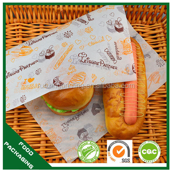 food wrapping paper, greaseproof paper for food, wrapping foil for burger