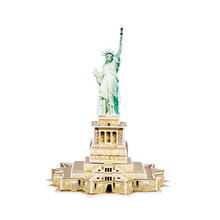 Educational Famous Building Miniature Souvenir Statue of Liberty Paper Jigsaw 3D Puzzle For Kids