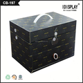 customized black folding cosmetic paper box