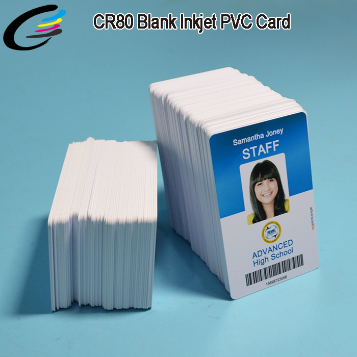White Blank CR80 Inkjet PVC Card for Epson L800 Printer