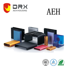 extruded anodized rectangle tapping profile aluminum external enclosure