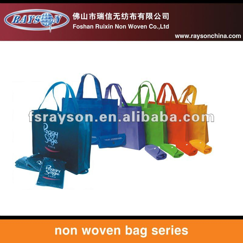 new design and beautiful nylon foldable shopping bag